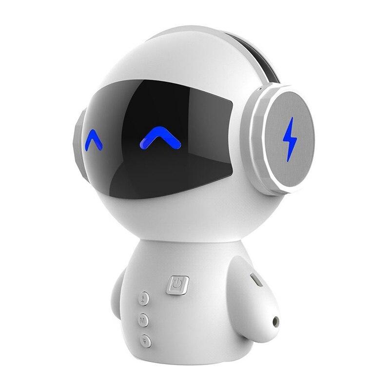 Mini-haut-parleur Intelligent M10 de Bluetooth de Robot Intelligent mignon Mini haut-parleurs portatifs de Bluetooth de basse pour le cadeau de musique de batterie externe