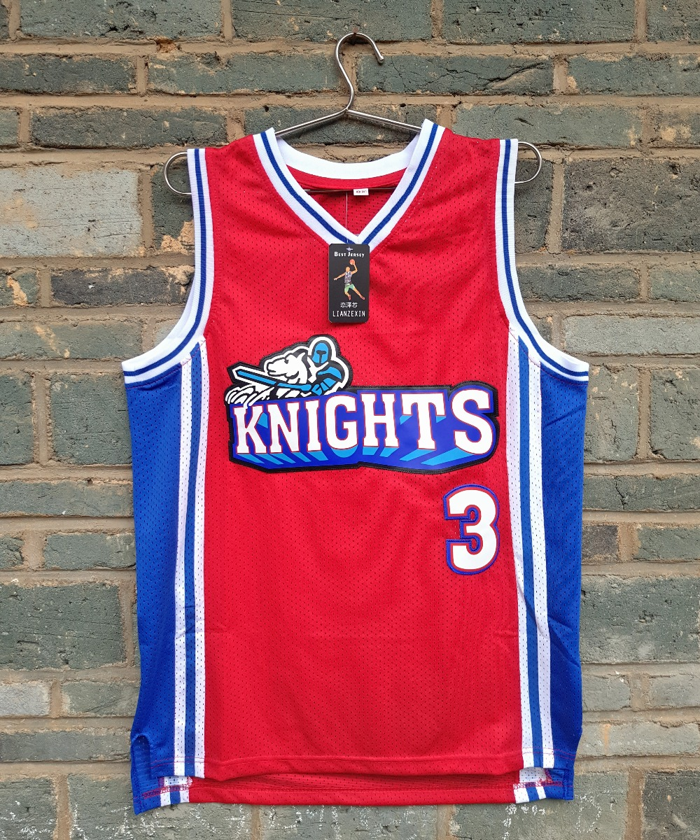 LIANZEXIN Like Mike Movie Knights #3 Calvin Cambridge Knights Basketball Jersey Red Perfect Quality Wholesale Price цена и фото
