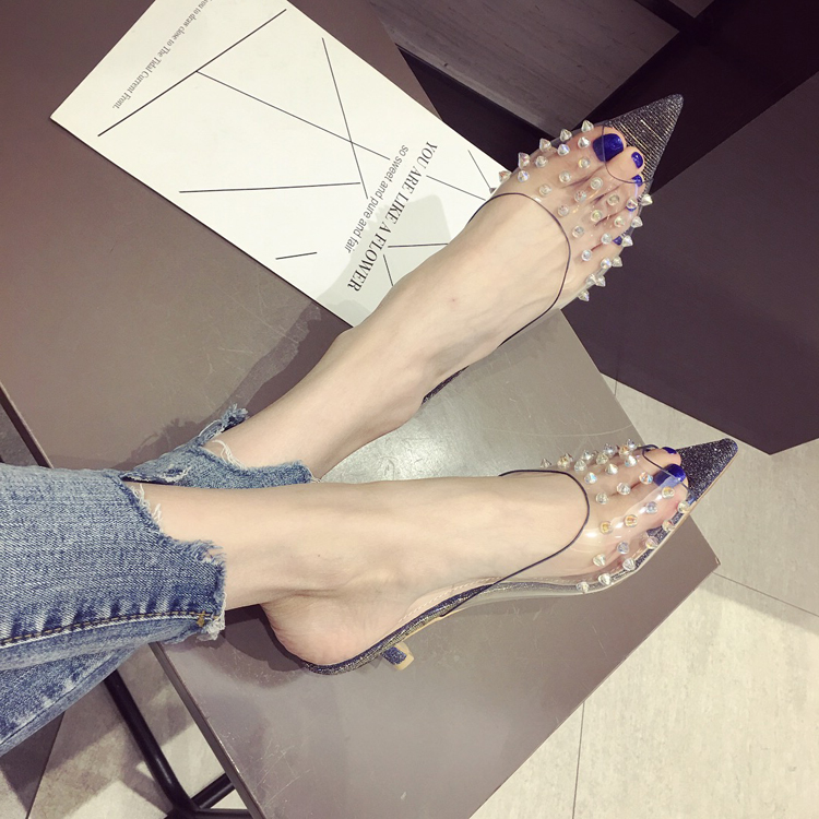 02edbee52a22 2018 PVC Jelly Sandals Crystal Open Toed High Heels Women Transparent Heel  Sandals Slippers Discount Pumps plus size QQ20170310204941
