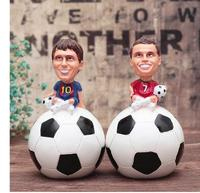 Football fan memorabilia star ball player doll C rossie pieces of money tank resin crafts crafts statue home decoration