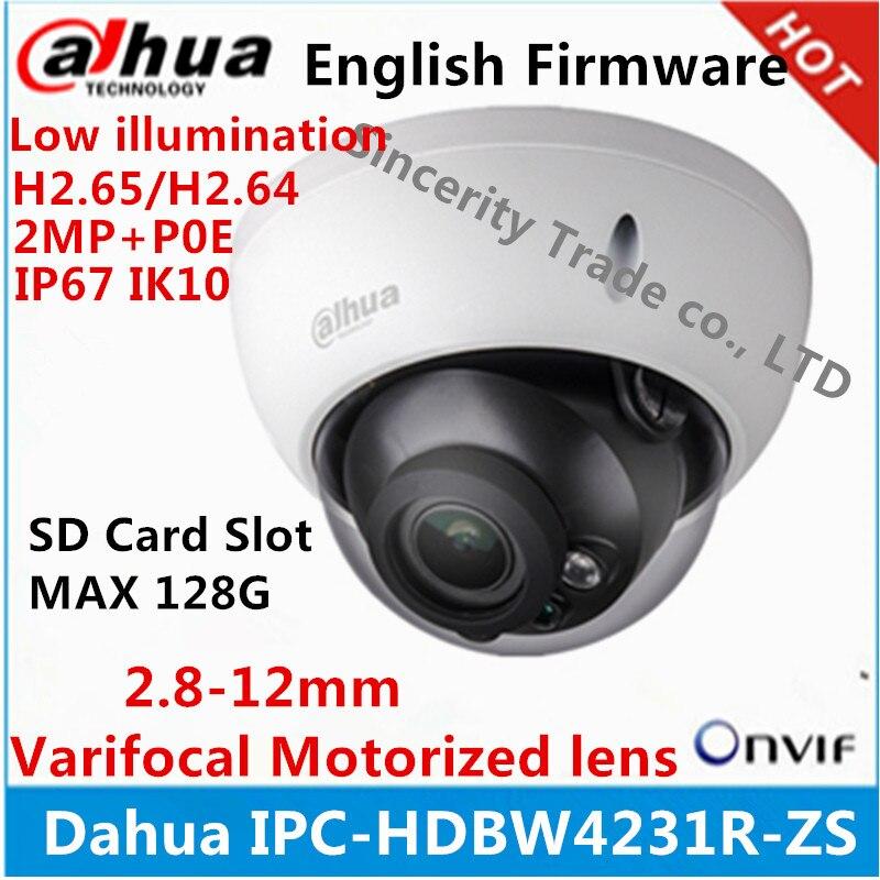 bilder für Dahua H2.65 IPC-HDBW4231R-ZS Ip-kamera 2,8mm ~ 12mm vario motorisierte objektiv 2MP IR50M mit sd Card slot POE netzwerk kamera