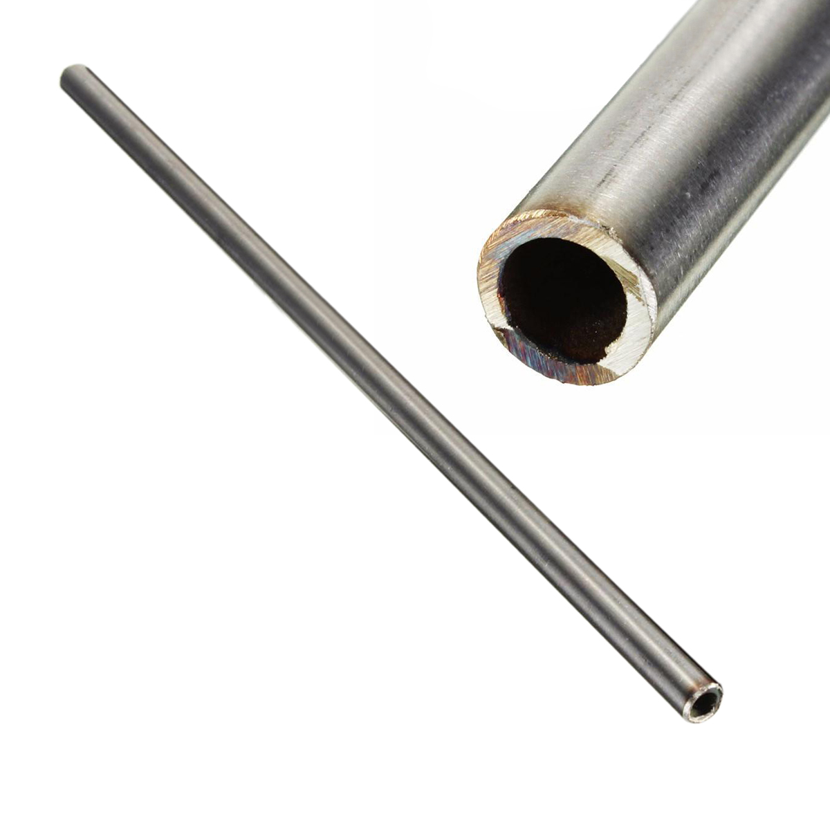 1pc New Silver 304 Stainless Steel Tube Capillary Tube 12mm OD 10mm ID 250mm Length For Home Decoration