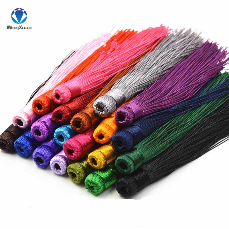10pcs/lot 12CM Mixed Cotton Silk Tassels Earrings Charm Pendant Satin Tassels for DIY Jewelry Making Findings Materials