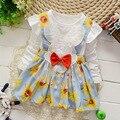 Осеннее платье для девочек с длинными рукавами.Украшено Микки Маусом с большим красивым бантом. 2 варианта расцветки.