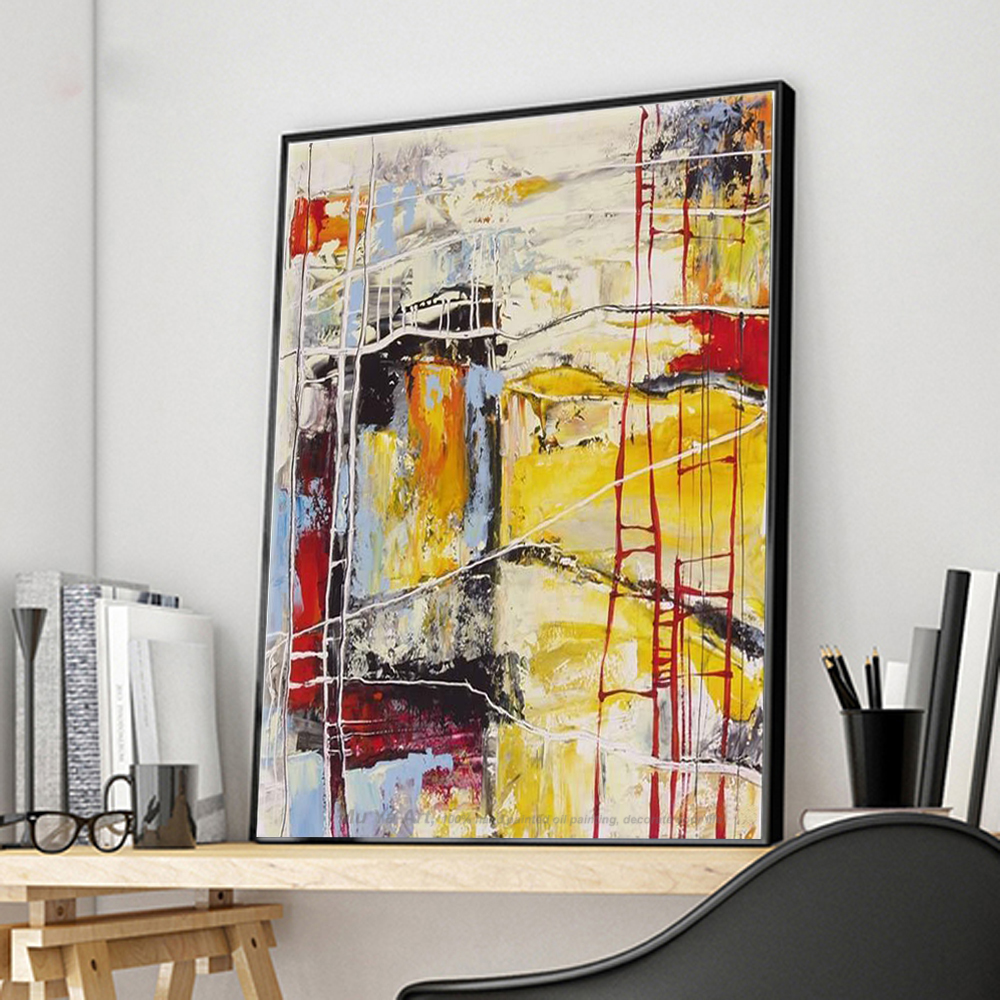 MUYA large canvas wall art Modern abstract acrylic handmade oil ...
