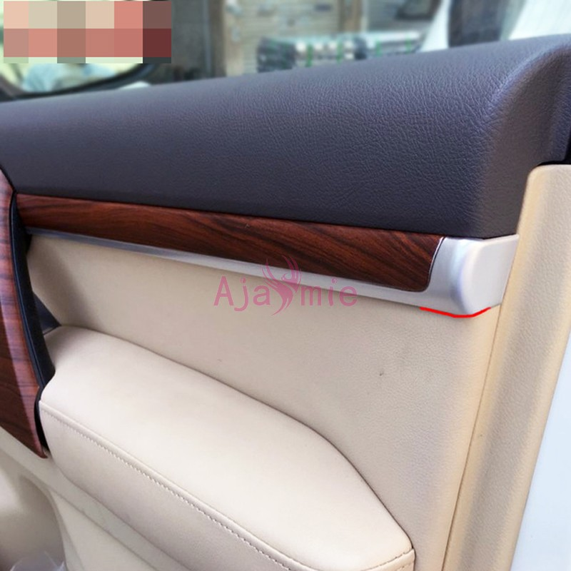 Interior Wood Color Door Moulding Trims Panel 2008-2017 Car Styling For Toyota Land Cruiser 200 Accessories