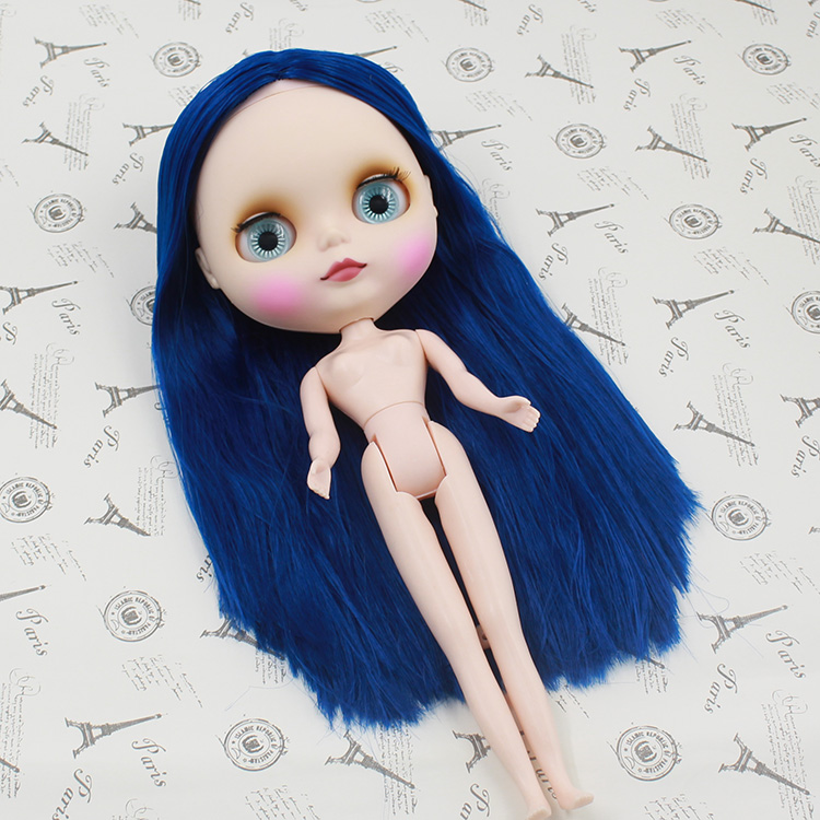 suitable For Diy Change Bjd Toy For Girls Bracing Up The Whole System And Strengthening It 2019 Fashion Free Shipping Cost Nude Doll,blue Hair Factory Doll Toys & Hobbies Dolls