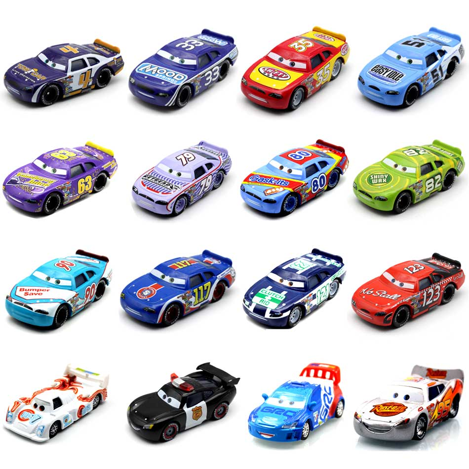 18 Style 2018 New Disney Pixar Cars 1:55 Lightning McQueen Set 2 & 3 Racing NO. 51Diecast Hutodoroki Metal Toy Car For Children