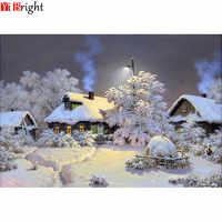 Needlework Diamond Painting Beautiful Snow Winter Landscape Diamond Embroidery All Drill Rhinestone Mosaic Picture