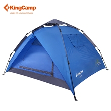 KingCamp Outdoor Tent 3-Person 2-Season Easy-up Camping Tent Portable Outdoor Double-layer Dome Tent for Hiking Trekking