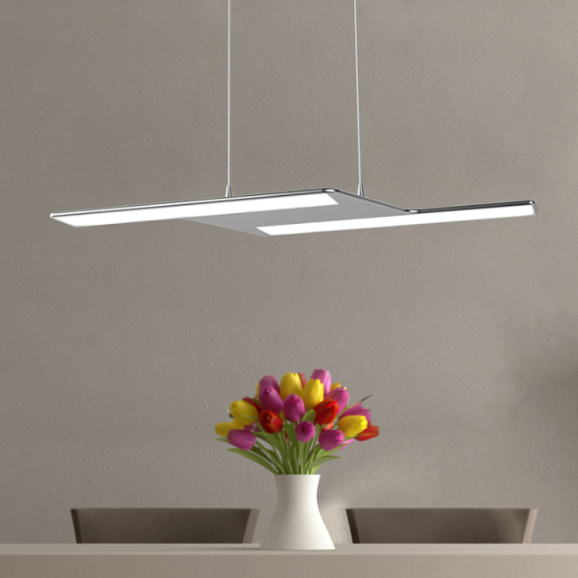 Modern LED Chandelier Light Fixture Aluminum Hanging Lamp LED Light for Dining Bedroom Free EMS