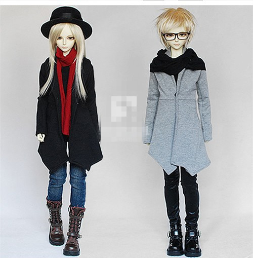 Scarf Long Coat For 1/4 1/3,SD17  Uncle BJD SD MSD Doll  Clothes CMB22