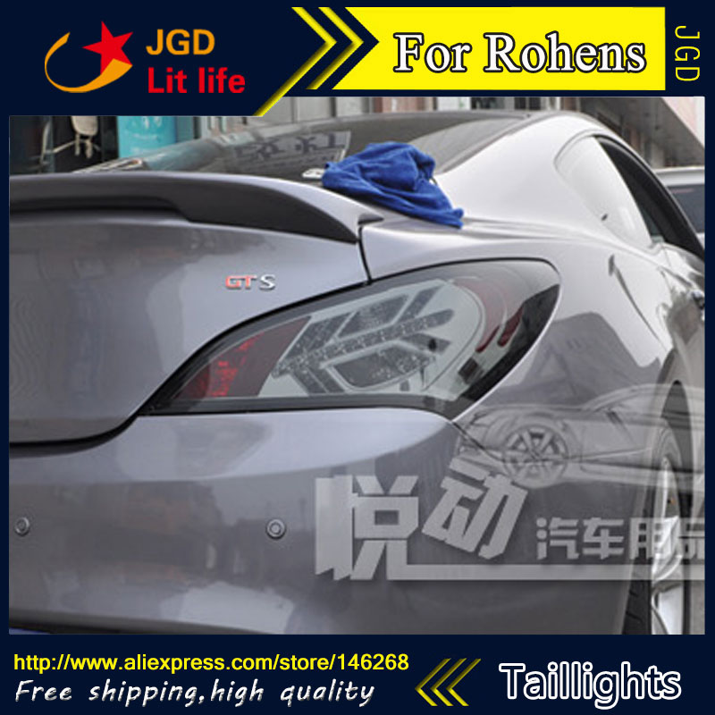 Car Styling tail lights for Hyundai Rohens taillights LED Tail Lamp rear trunk lamp cover drl+signal+brake+reverse car styling tail lights for toyota prado 2011 2012 2013 led tail lamp rear trunk lamp cover drl signal brake reverse