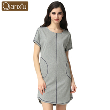 Summer Fashion Lounge Shirt- Nightdress Female Modal & Cotton Sexy Sleepshirts Homewear Women Casual Short Sleeve Nightgowns