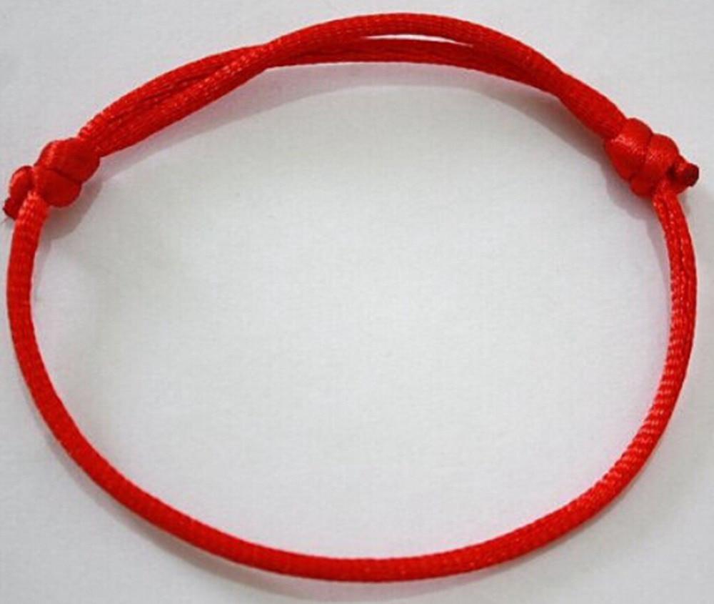 200 unids/lote Hecho A MANO Pulsera de Hilo Rojo KABBALAH MAL