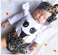 Bonito menina roupa do bebê branco romper do bebê recém-nascido roupas roupas de bebê menina ocasional terno infantil da criança