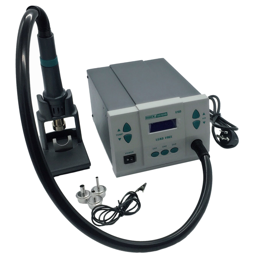 PHONEFIX 110V 220V 1000W QUICK 861DW Lead Free Hot Air Rework Station Professional Soldering Rework Station For Cellphone Repair