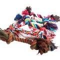 2015 New New Fashion Puppy Dog Pet Toy Cotton Braided Bone Rope Chew Knot 58YW