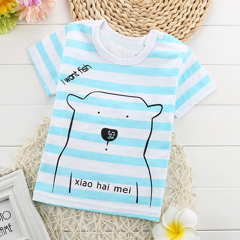 2017 New Summer Boys Girls T Shirts Children Clothes Kids Cartoon Short Sleeve T-shirt Soft Cotton Unisex Boys Girls Tops Shirts