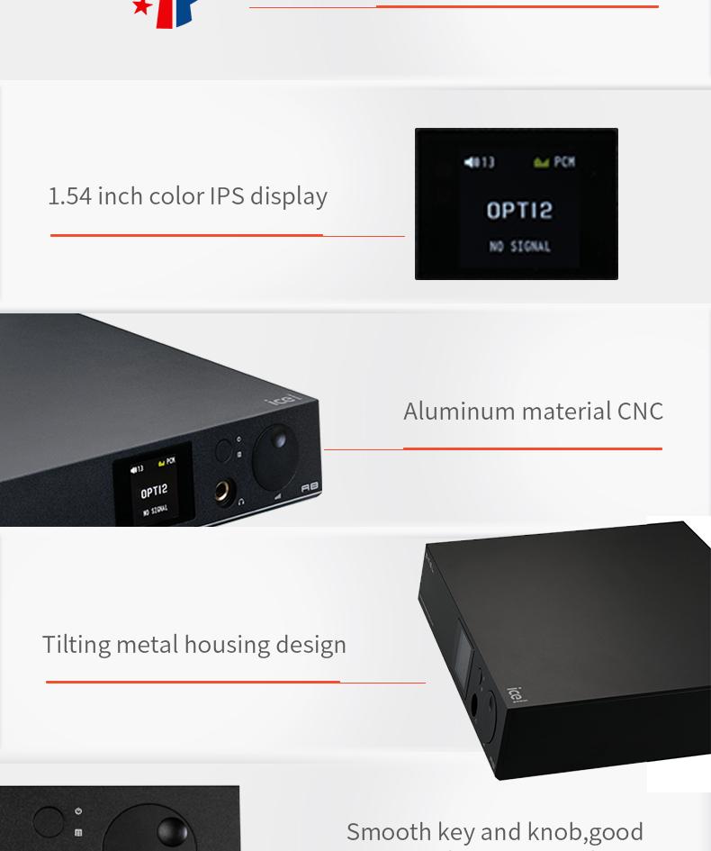 SMSL A8 ICEpower 125W Hifi Audio Digital USB DAC+Headphone