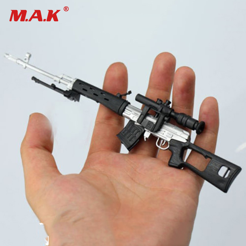 Russian Black Wood-like 1//6 Scale SVD Sniper Rifle Tactical Weapon Gun Toy Gift
