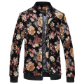 Bomber Jacket Men Autumn New Men Floral Jackets Hot Korean Slim Fit Long Sleeve Men Coats Stand Collar Mens Clothes Windbreaker