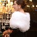 Xales de Pele de Avestruz Real Natural Fur Wraps de Noite Das Mulheres Vestido de Inverno Sólida Moda Pashmina Xale 100% Da Pena do Peru