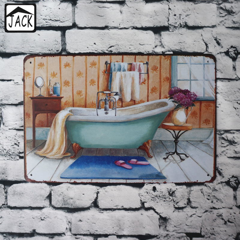 Bath pool metal tin signs house gallery lounge shop cafe for Bath house shop
