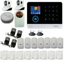 WIFI Gsm Wireless Home Office Business DIY Strobe Flashing Sirena Kit Auto Dial Sistema de Alarma de Ladrón de la Seguridad Inalámbrica Cámara IP