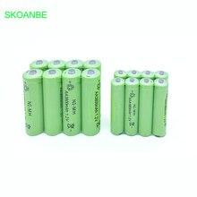 Recarregáveis plus AAA 10 PCS AA 3800 MAH Ni-mh Baterias 1800
