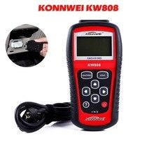 Konnwei KW808 кода неисправностей автомобиля OBD2 диагностический сканер EOBD MIL сбросить считыватель США KW808(только может обнаруживать 12 V бензиновый автомобиль, 2,8 В