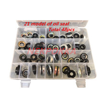 48 stück automobil klimaanlage kompressor öl dichtung set für FS10 7SUB16 MAS90/105 A32 DKS32C 10PA15C/17C HCC V5 welle dichtung