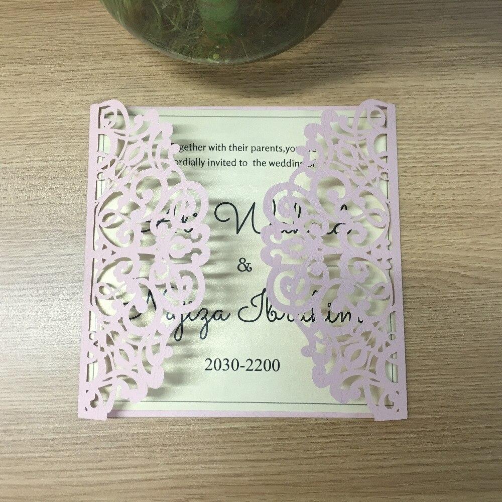 っRemise de mariage carte d invitation laser cut rose papier ... eb08d37e3f3