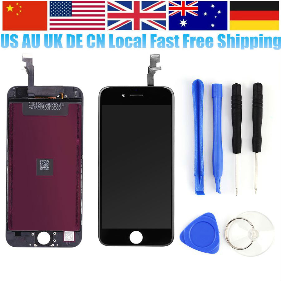 Oversea Ship Phone Assembly Display LCD Touch Screen with Digitizer Frame Assembly Replacement Full Screen for iPhone 5/5S/5C/6 new white lcd display touch screen digitizer replacement repair frame assembly for apple iphone 5s smart phone