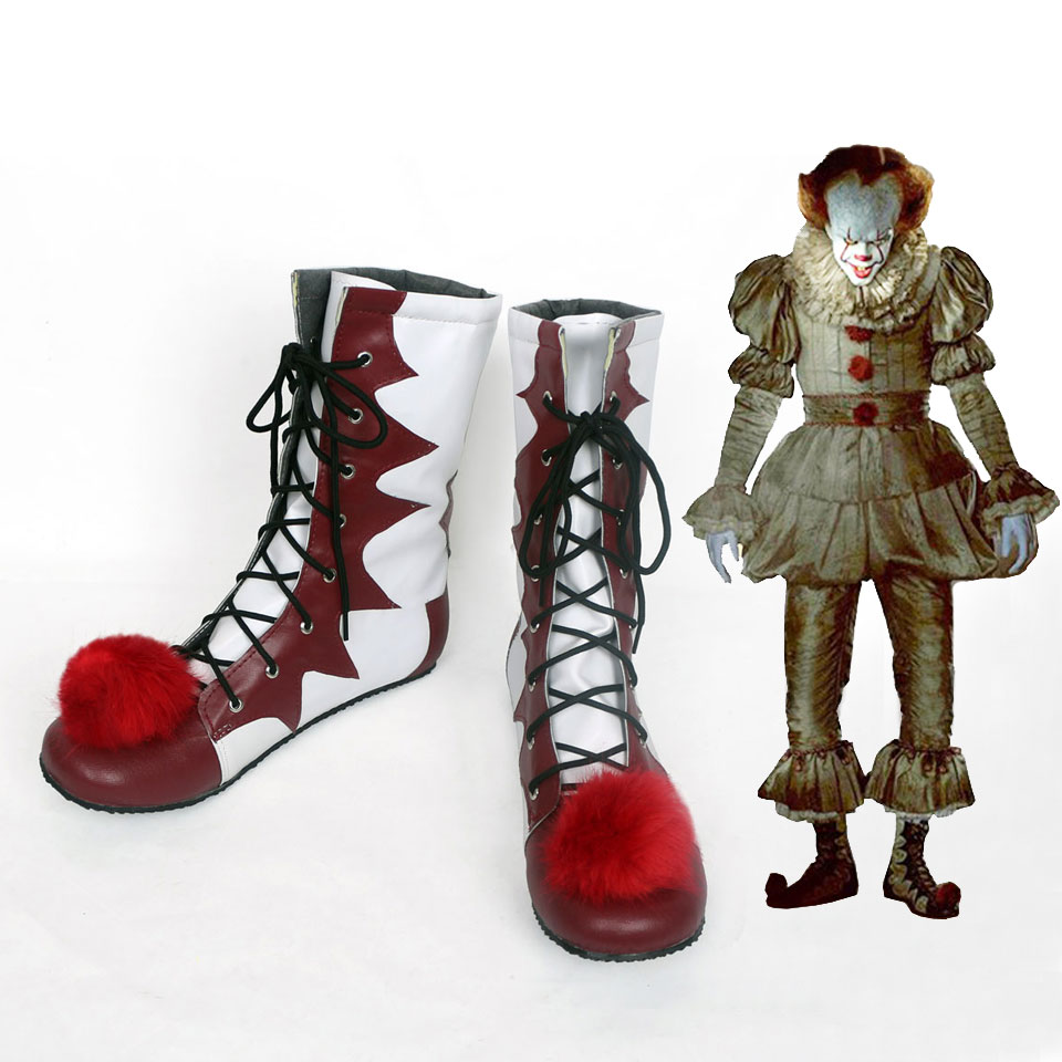 Stephen King's It Pennywise Cosplay Shoes Boots Adult Men Women Clown Shoes Fancy Halloween Party Costumes clown inflatable costumes halloween witch party stage clothes for men women carnival father unisex dress up fancy stuffed toys