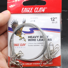 Eagle Claw Branded Hot Sale 6PCS/Bag 12″ 30lb Heavy Duty Wire Leaders For Freshwater/Saltwater Fishing