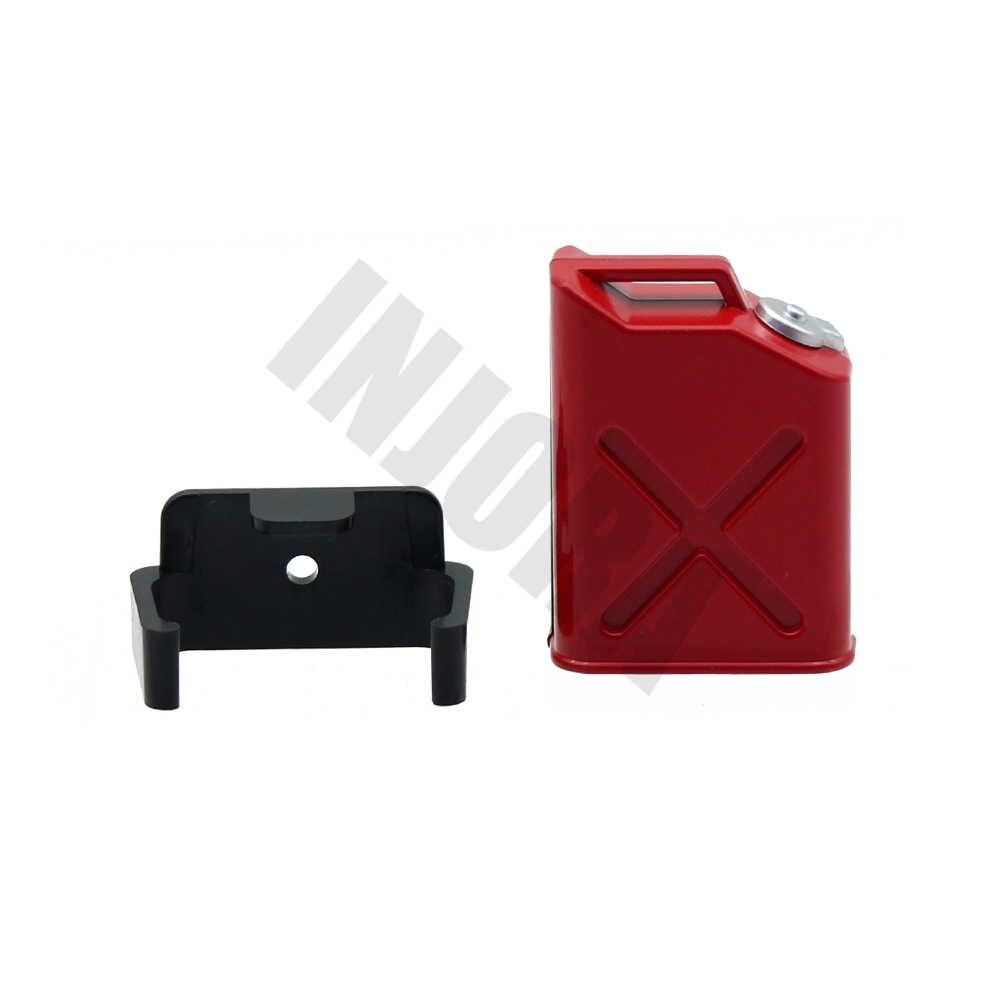 1 قطعة معدنية الأحمر خزان الوقود ديكو 1:10 RC زاحف اكسسوارات السيارات ل TRAXXAS TRX4 TRX-4 تاميا CC01 محوري SCX10 90046 D90 D110 TF2