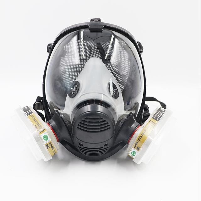 Máscara de gas 7 Trajes de Cara Completa Respiradores Químicos Gases de Gases Y Vapores Orgánicos Anti Polvo De La Pintura Anti-Vaho Formaldehído