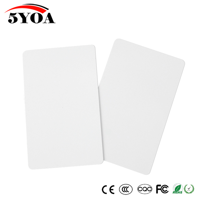 10pcs/Lot 13.56Mhz MF S50 Proximity IC Smart Card RFID Card Tag 0.8mm Thin For Access Control Time Attendance System ISO14443A