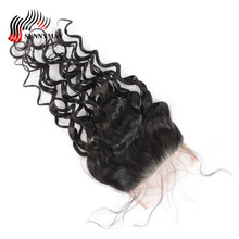 Sunnymay 5x5 Water Wave Lace Closure Brazilian Virgin Hair Top With Baby Pre Plucked