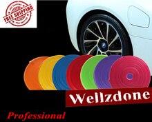 10 цветов 8 м/roll Новинка 2017 года укладки IPA rimblades автомобиль Цвет колеса Диски протектор шины Guard линии резиновых изделий отделка