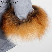 Women long parka fur coat winter jacket