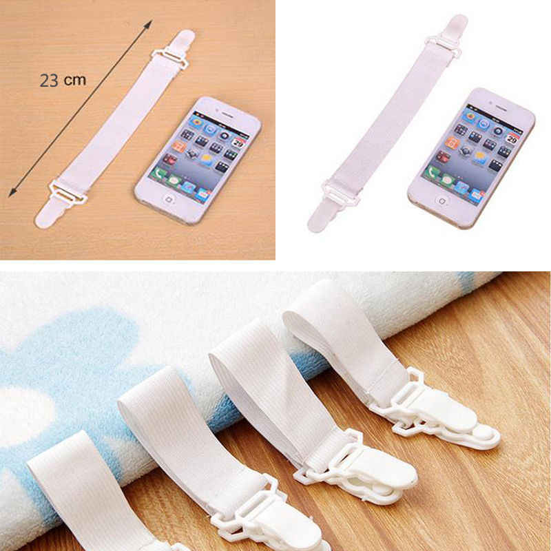 1Pc Popular 4X Bed Sheet Mattress Cover Blankets Grippers Clip Holder Fasteners Elastic Fixing Slip-Resistant Belt Home Living