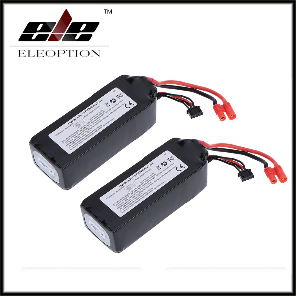 2 PCS Eleoption RC 11.1V 5200mAh 10C LiPo Battery 3S with 3.5mm Banana Bullet Plug for Walkera QR X350 PRO qr x350 pro z 06 brushless motor spare parts for walkera qr x350 pro