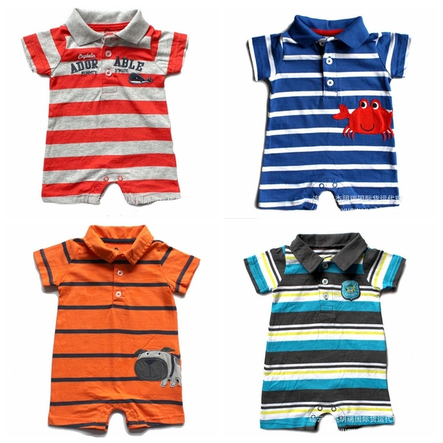 Marca original, macacão de Bebê, novo 2016, roupas de verão, recém nascido, bebê menino clohtes, desgaste, bebê em geral, crianças dos desenhos animados macacão