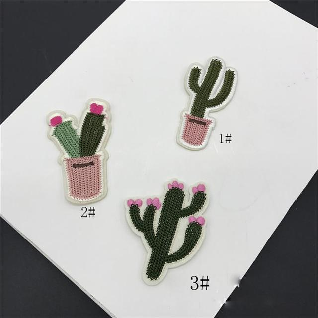 SUISHOU 10 Pcs lot cactus embroidery cloth paste scarf decorative donkey  iron-on or Sew-on Accessories DIY Crafts 670955c08710b