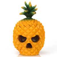 Pineapple Skull Ornaments Resin Jewelry Storage Box White Valentine Day Home Finishing