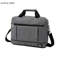 USB Charging Briefcase Simple Laptop Handbag Casual Mens Business Protfolio Maletin Hombre Oxford Factory AUTEUIL PARIS