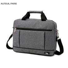 USB Charging Briefcase Simple Laptop Handbag Casual Mens Business Protfolio Maletin Hombre Oxford Factory AUTEUIL PARIS