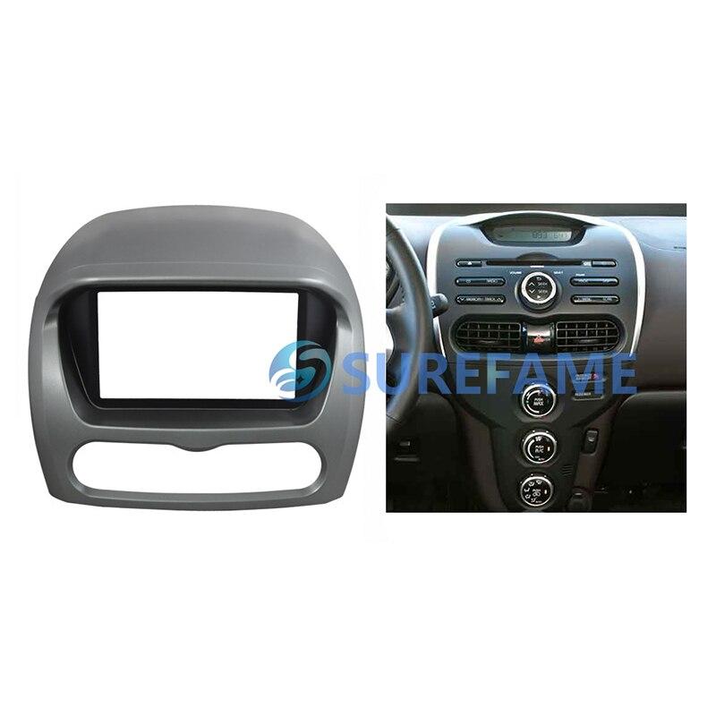 Double Din Car Trim Surround Panel for Mitsubishi Imive Peugeot ION Radio DVD Refitting Dash Mount